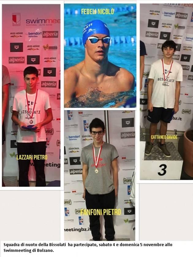 Squadra di nuoto della Bissolati  ha partecipato, sabato 4 e domenica 5 novembre allo Swimmeeting di Bolzano