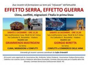 Viadana EFFETTO SERRA, EFFETTO GUERRA il 2 ed il 16 dicembre