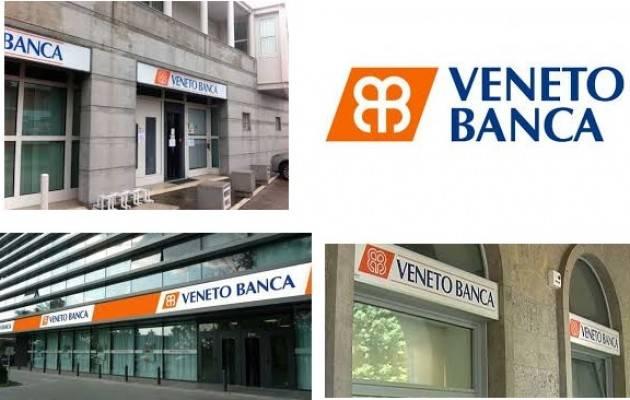 Veneto Banca : MDC si costituisce parte civile a processo: oggi l'udienza preliminare