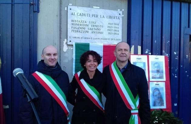 Crema FotoGallery Commemorazione dei 4 Partigiani massacrati allo stadio Voltini.