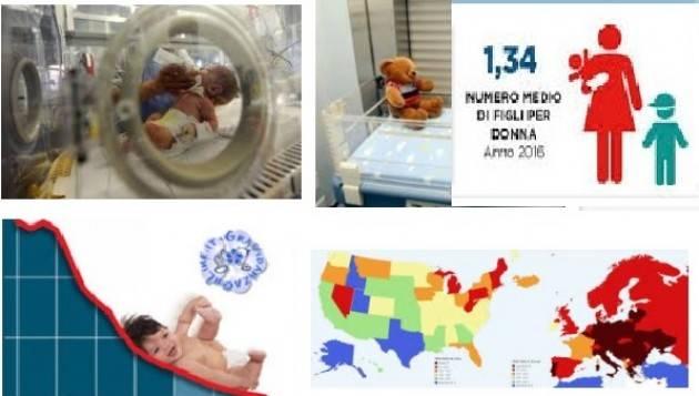 Italia Continua il calo delle nascite: in un anno dodicimila bambini in meno