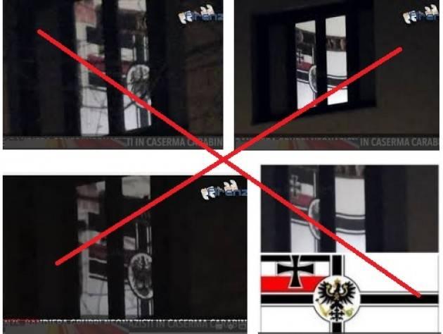 Bandiera neonazista dai carabinieri. Bene, Per stare tranquilli di Rossella Zelioli (Isola Dovarese)