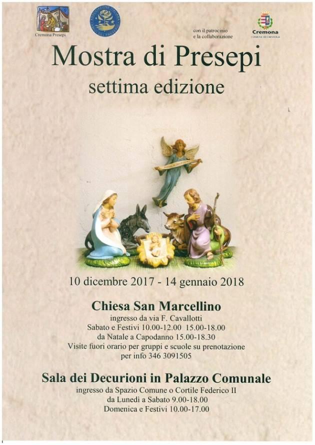 Cremona  la Mostra dei Presepi a Palazzo Comunale si inaugura il 10/12 con il Vescovo