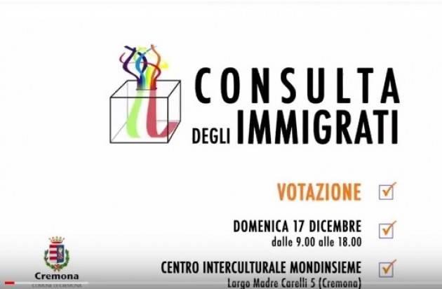 (Video) Consulta Stranieri  Cremona  Si vota  il 17 dicembre  Appello dei candidati