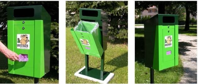 Rifiuti: restyling dei cestini, contenitori per deiezioni canine  e controlli tecnologici per il decoro urbano