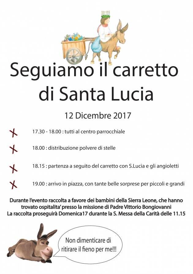Santa Lucia Arriva Anche A Rivarolo Mantovano Martedì 12 Dicembre