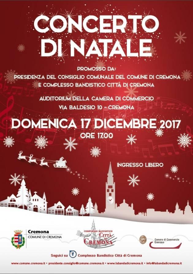 Cremona Domenica 17 'Concerto di Natale' all'Auditorium della Camera di Commercio