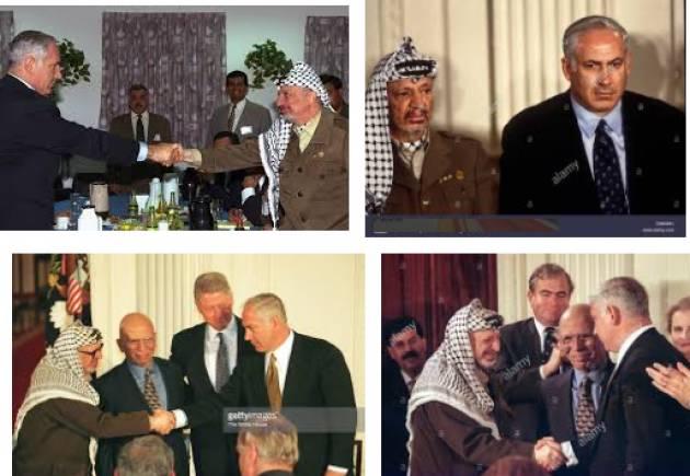 AccaddeOggi  23 dicembre 1998  Conflitti arabo-israeliani: Benjamin Netanyahu e  Yasser Arafat  firmano accordo 'terra in cambio di pace'