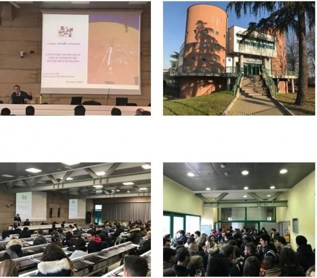 Campus di Cremona  L'OROLOGIO SOLARE DEL POLITECNICO DI MILANO è stato inaugurato il 22/12