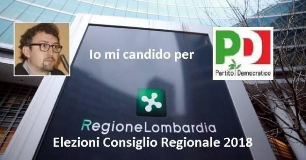 Matteo Piloni candidato  per il PD al Consiglio Regionale Lombardia si presenta