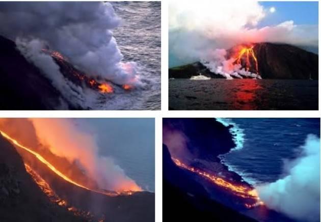 AccaddeOggi  31 dicembre 2002-Stromboli viene evacuata in seguito ad una forte eruzione