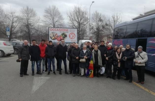 Una delegazione delle ACLI cremonesi alla  50 ^ marcia della Pace 2017  di Bergamo di oggi 31 dicembre