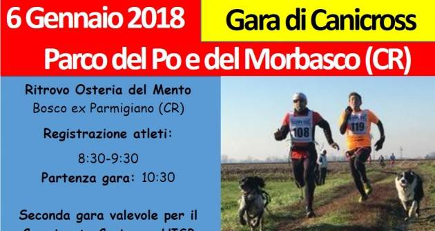 UISP 6 Gennaio 201 Parco del Po e del Morbasco (CR) Gara di Canicross