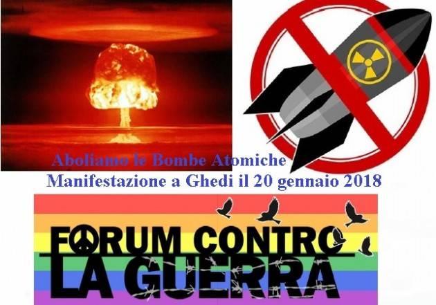 Per l'abolizione ovunque delle armi atomiche MANIFESTAZIONE A GHEDI il 20 gennaio
