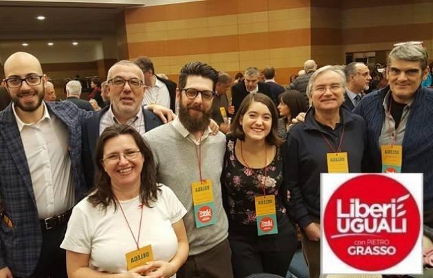 Un delegazione  cremonese  con Franco Bordo a Roma alla Assemblea Nazionale di Liberi e Uguali