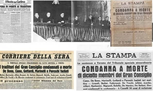 AccaddeOggi 10 gennaio 1944 A Verona il tribunale speciale condanna a morte Galeazzo Ciano ed altri gerarchi che avevano sfiduciato Mussolini
