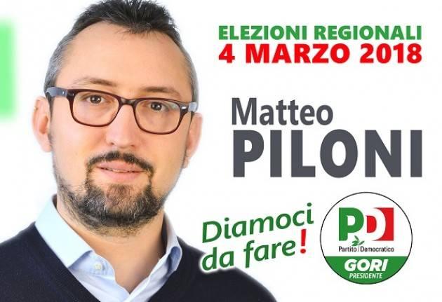 Matteo Piloni (Pd)  . Con tutto il centrosinistra Gori può vincere
