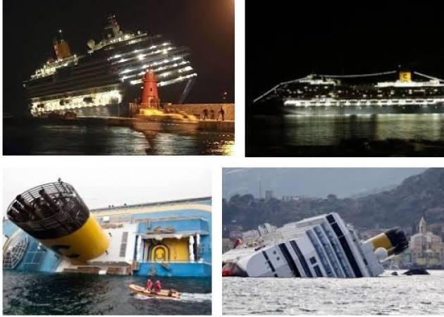 AccaddeOggi 13 gennaio 2012 – La nave da crociera Costa Concordia urta degli scogli  dell'Isola del Giglio