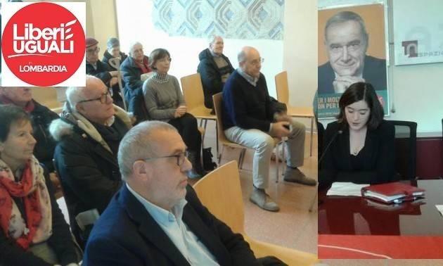 Liberi e Uguali  Crema Marta Andreola con Onorio Rosati in lista per il Consiglio Regionale Lombardo