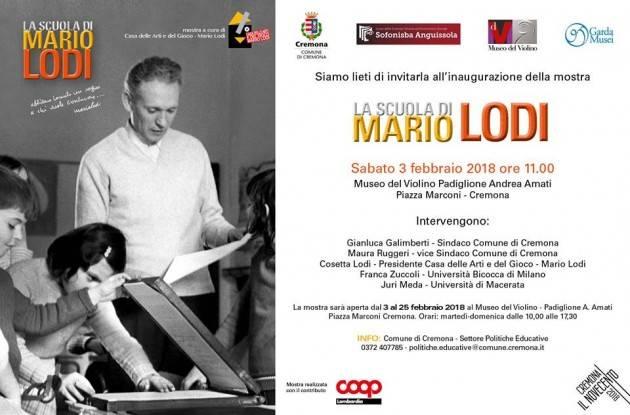 A Cremona continua la  Mostra  LA SCUOLA DI MARIO LODI  fino al 25 febbraio al MDV