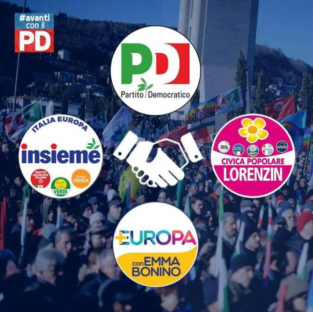 Elezioni Nazionali 4 marzo. Il PD e la sua coalizione di centrosinistra