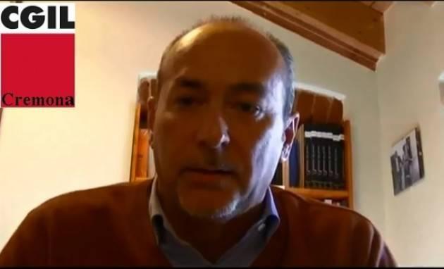 (Video) Elezioni politiche e lombarde  2018 Marco Pedretti (Cgil Cremona):La Cgil chiede ai partiti impegno sul lavoro