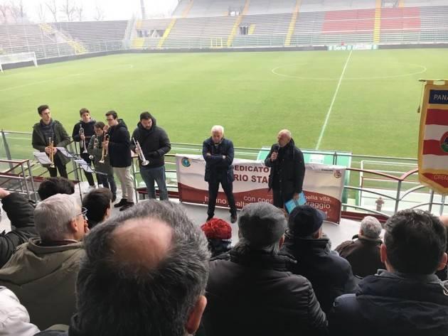 Giornata della memoria Emozionante cerimonia  questa mattina,venerdì 26 gennaio,allo stadio Zini di Giorgio Barbieri