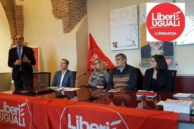 Liberi e Uguali Cremona ha raccolto le firme .Sarà presente alle elezioni Regionali Lombarde del  4 marzo