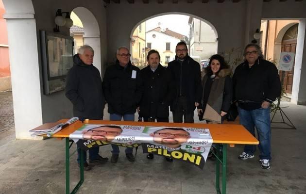 Ogni mattina, fino al 4 marzo, Matteo Piloni sarà presente nei paesi del territorio per parlare con le persone