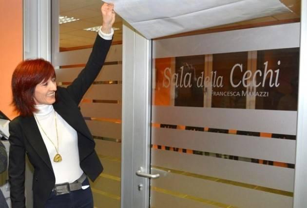 Nei giorni scorsi nella sede del Pd di Crema è stata intitolata la 'SALA DELLA CECHI' di Cinzia Fontana