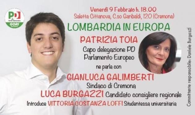 Patrizia Toia a Cremona per parlare di Europa ed a sostegno di Luca Burgazzi (Pd)