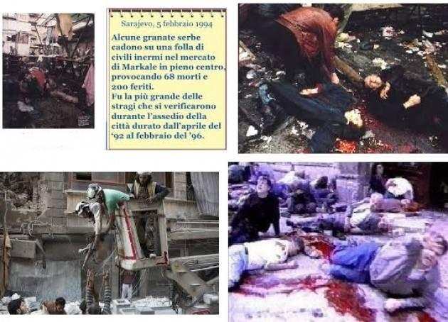 AccaddeOggi  5 febbraio 1994 – Strage del mercato di Sarajevo, 69 morti  e  200 feriti