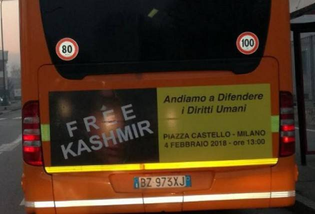 Solidarity day per il Kashmir, Milano - Piazza Castello, ore 13 – 4 febbraio