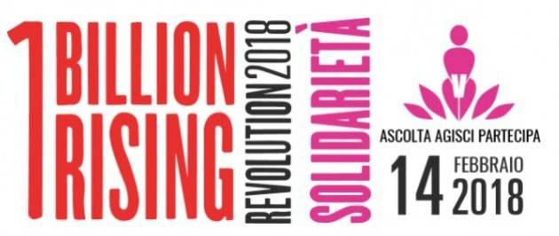 A Cremona ONE BILLION RISING 2018 #SOLIDARIETA'  Mercoledì 14 febbraio  alle ore 17  Galleria XXV aprile