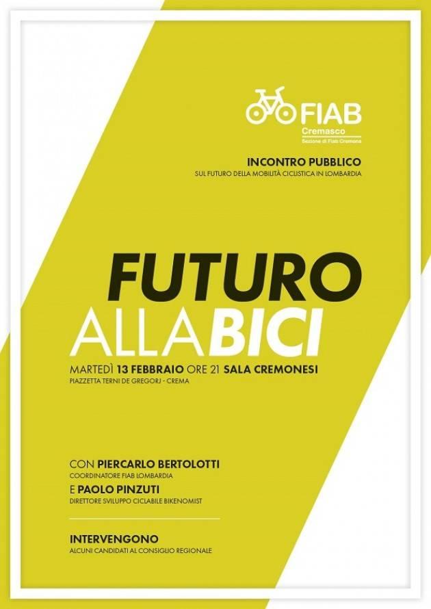 Fiab Cremasco organizza un incontro pubblico, sul tema della mobilità ciclistica