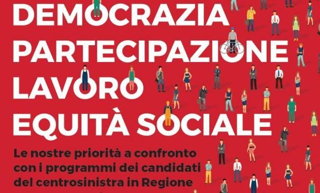Elezioni Lombarde I candidati Gori, Rosati e Gatti  si confrontano con la Cgil a Varese