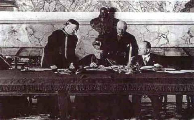 AccaddeOggi 11 Febbraio 1929 La firma dei Patti Lateranensi fra Regno D'Italia e Vaticano