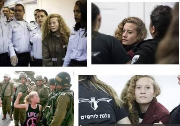 AMNESTY  CHIEDE A ISRAELE DI RILASCIARE L'ATTIVISTA MINORENNE PALESTINESE AHED TAMIMI