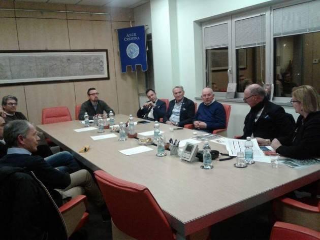 Matteo Piloni (Pd)  ha incontrato i costruttori dell'ANCE di Cremona