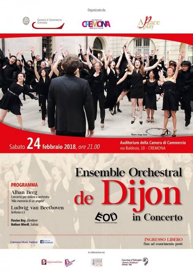 L'Orchestra di Digione torna a Cremona per la quarta volta