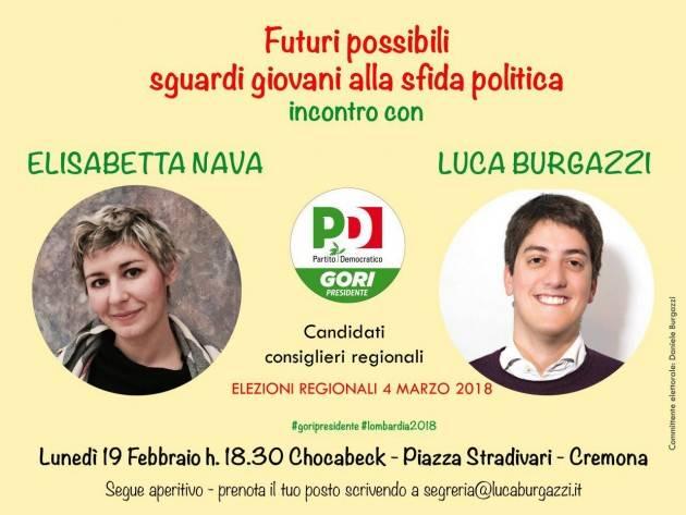 Uno sguardo giovane nella politica! Incontro con Burgazzi e Nava, candidati Pd Regione Lombardia