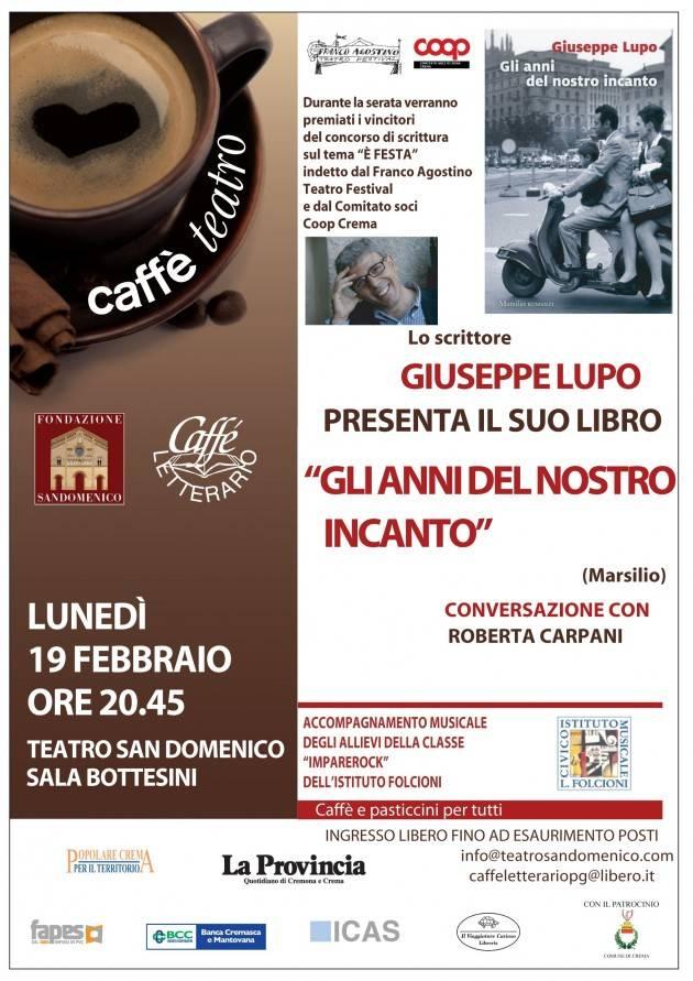 L'ECOLIBRI Caffè Letterario. Lunedì 19 febbraio 2018  in sala Bottesini del teatro San Domenico di Crema, ore 20.45, ingresso libero