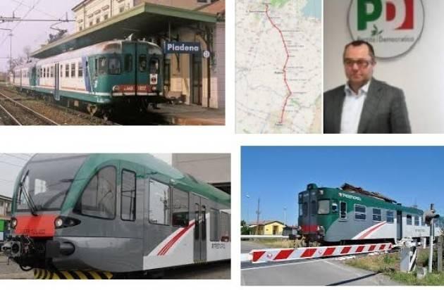Un plauso a Pizzetti (Pd) che opta per la rinuncia dell'autostrada Cr-MN e alla riqualificazione della linea ferroviaria PR-BS