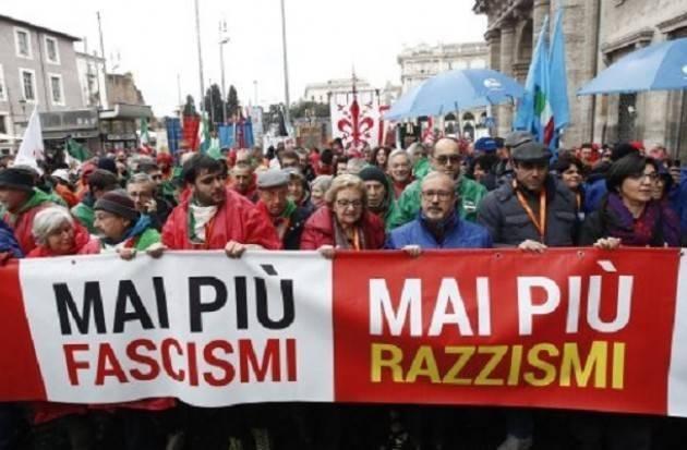 'Mai più fascismi-Mai più razzismi' Grande manifestazione a Roma indetta da 23 organizzazioni.