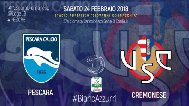 Pescara-Cremonese (0-0) Due volte il pareggio è troppo di Giorgio Barbieri