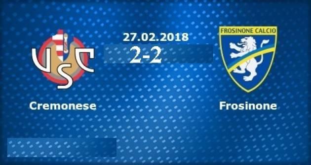 Cremonese-Frosinone (2-2) Questa squadra può andare ai playoff di Giorgio Barbieri