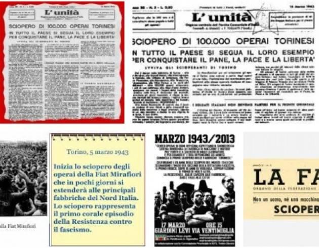 AccaddeOggi 5 marzo  1943  Torino partono gli 'Scioperi antifascisti del 1943'