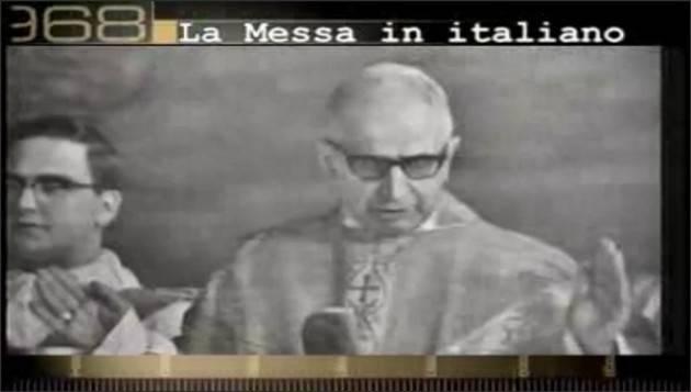 AccaddeOggi 7 marzo 1965 Viene autorizzato  l'uso della lingua italiana nella messa