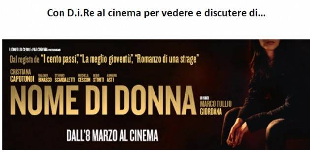 Cremona AIDA Presentazione Film Nome di Donna Domenica 11 marzo 2018 ore 16.30