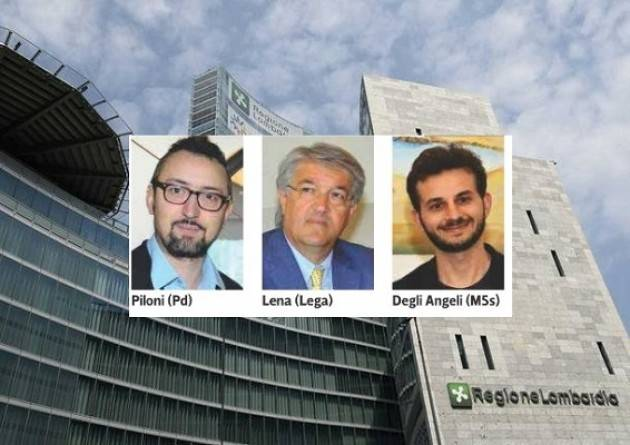 Piloni (Pd), Lena (Lega),Degli Angeli (M5S) i consiglieri regionali lombardi della provincia  di Cremona
